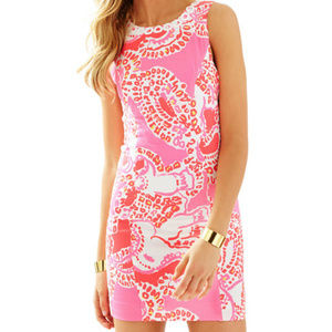 Lilly Pulitzer Mila Dress Trunk in Love Hot Coral